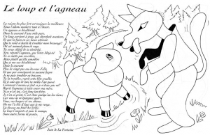 Coloring page la fontaines fables to print for free