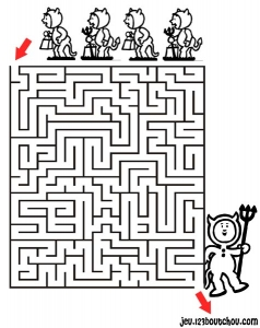 Coloring page labyrinths to download for free : Little devils