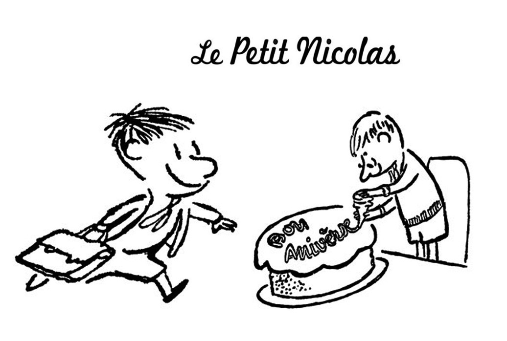 Le petit Nicolas coloring page to print and color for free