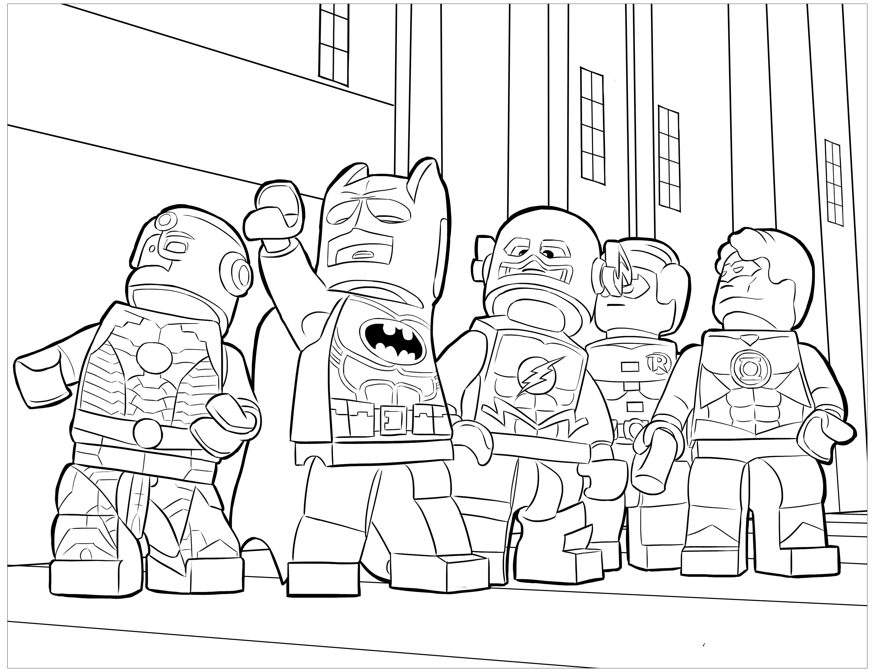 Free Lego Batman coloring page to print and color