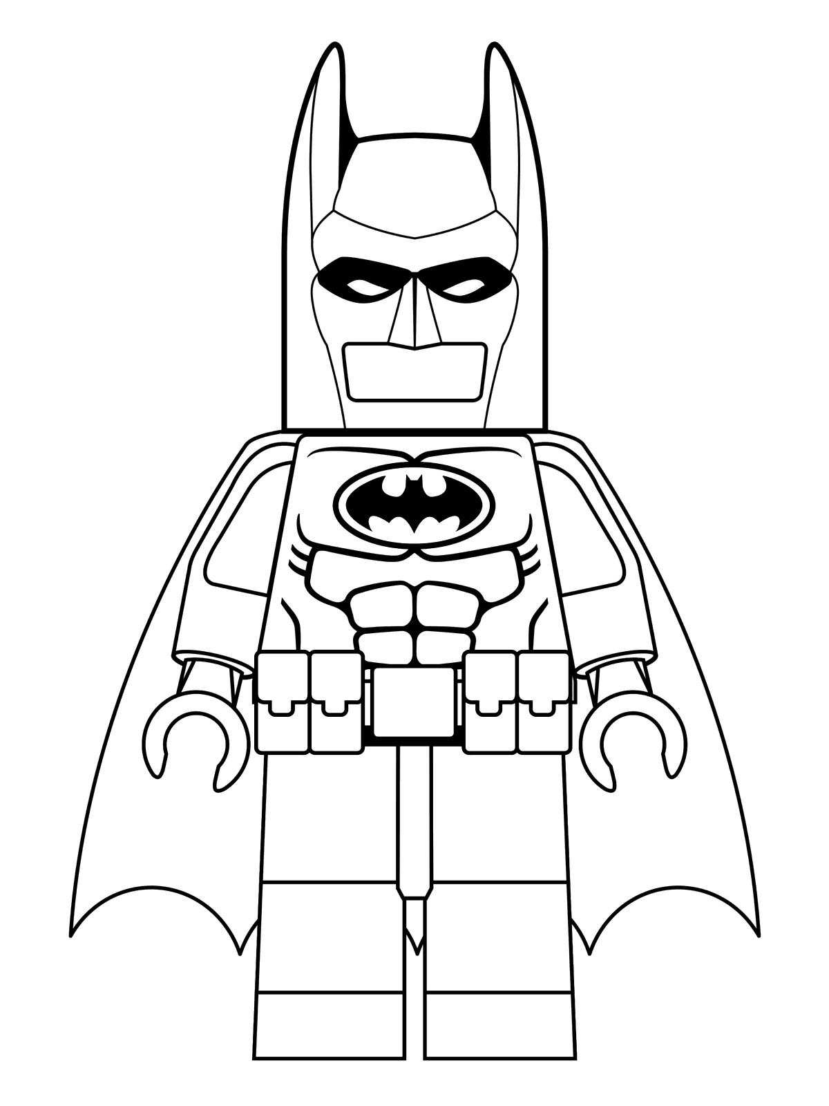 Beautiful Lego Batman coloring page