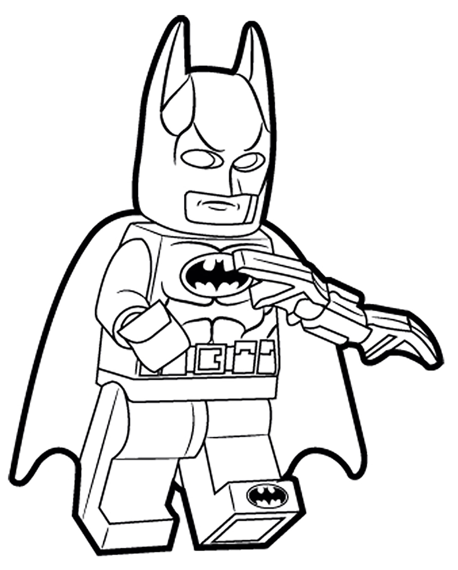 Lego batman and robin printable Coloring page for kids lego robin ... | 1865x1500