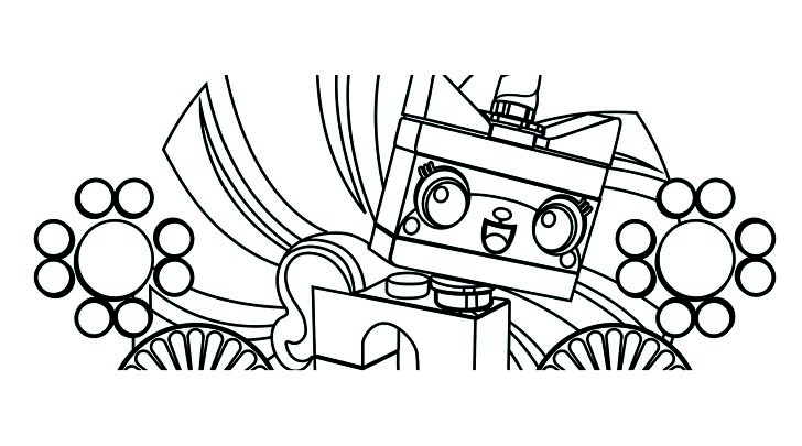Free Lego the Big Adventure coloring page to print and color