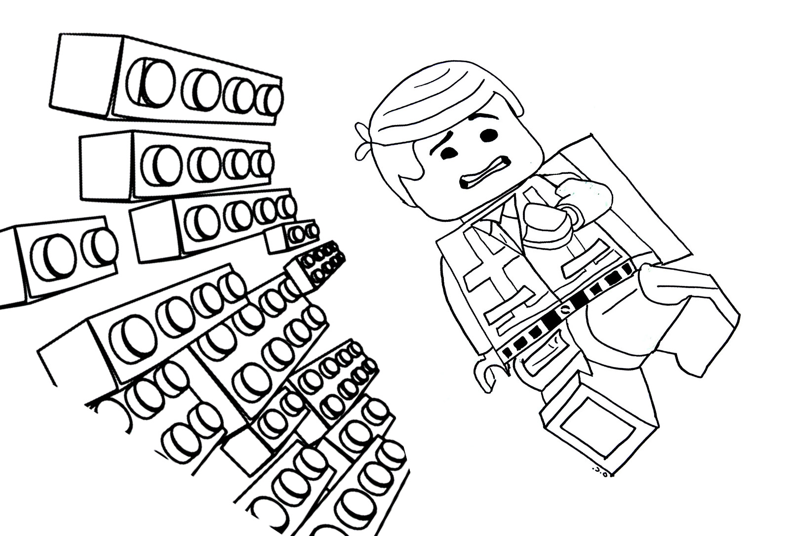 Funny Lego The Big Adventure Coloring Page