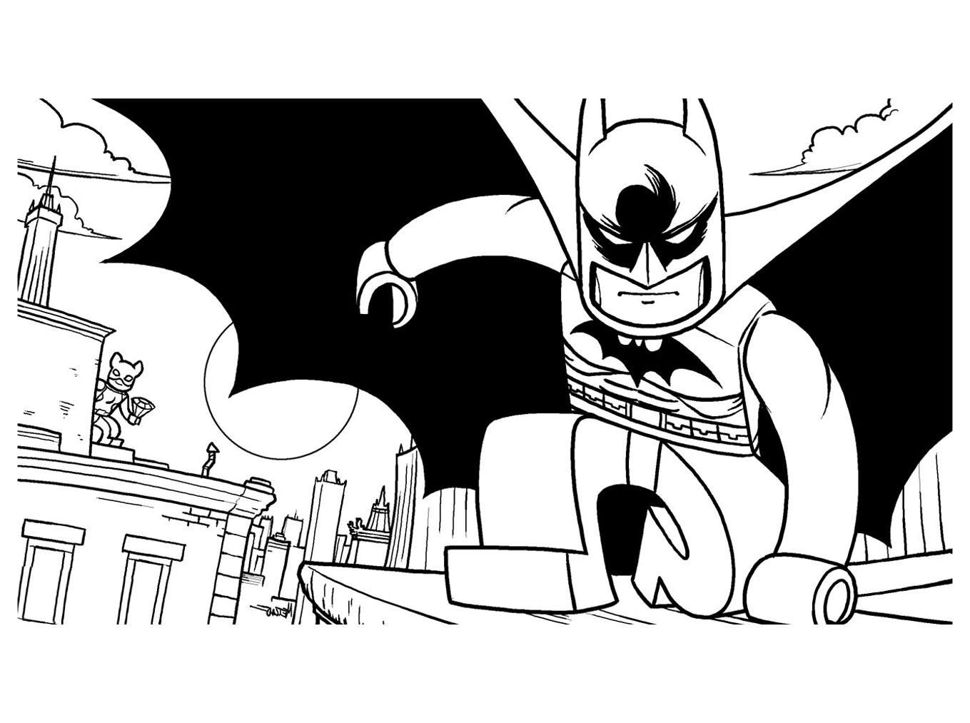 Lego the Big Adventure coloring page to download