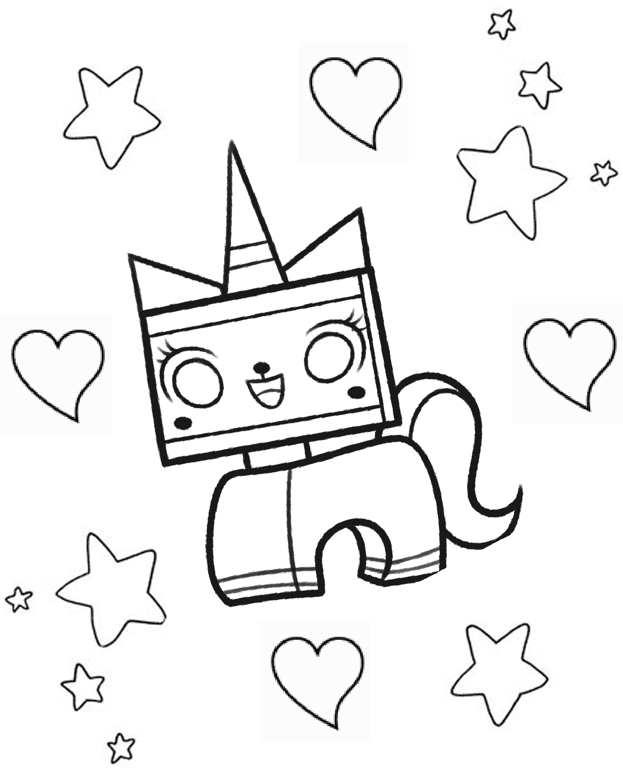 Funny Lego the Big Adventure coloring page for children