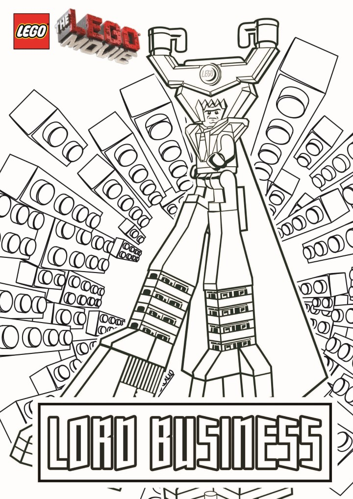 Printable Lego the Big Adventure coloring page to print and color