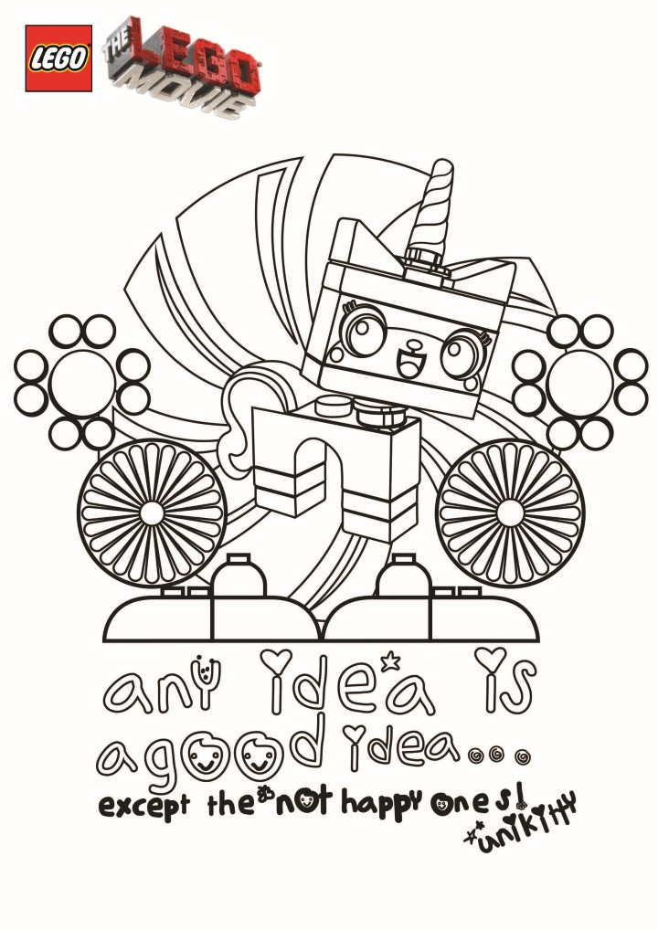 Simple Lego the Big Adventure coloring page to download for free