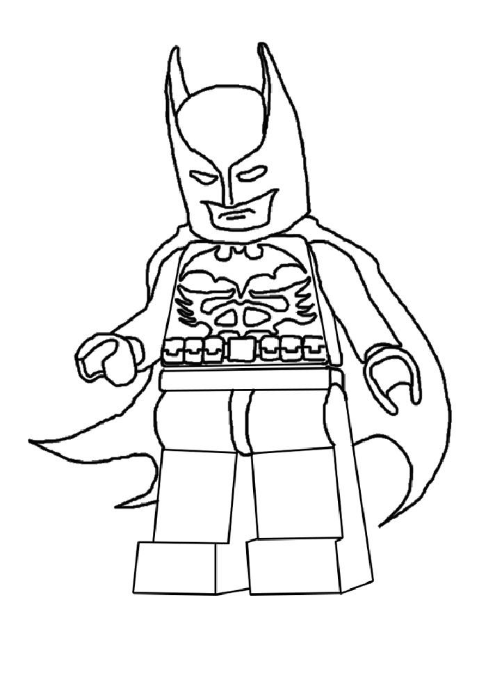 Beautiful Lego the Big Adventure coloring page to print and color