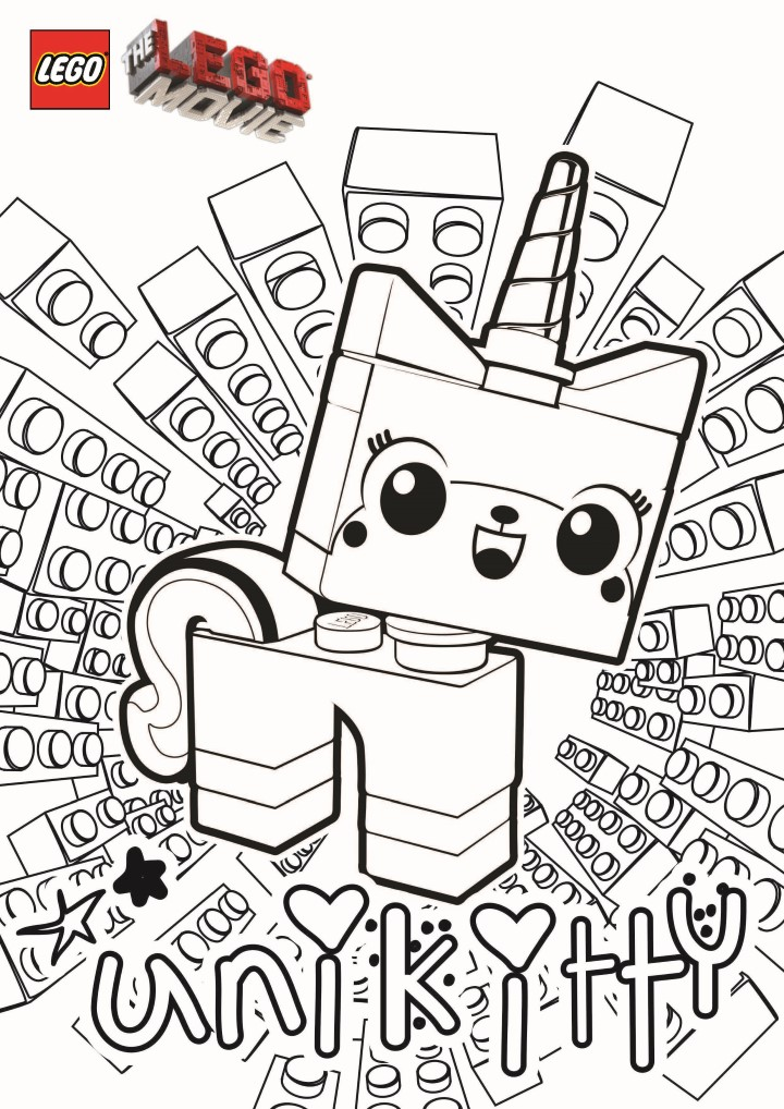 Easy free Lego the Big Adventure coloring page to download
