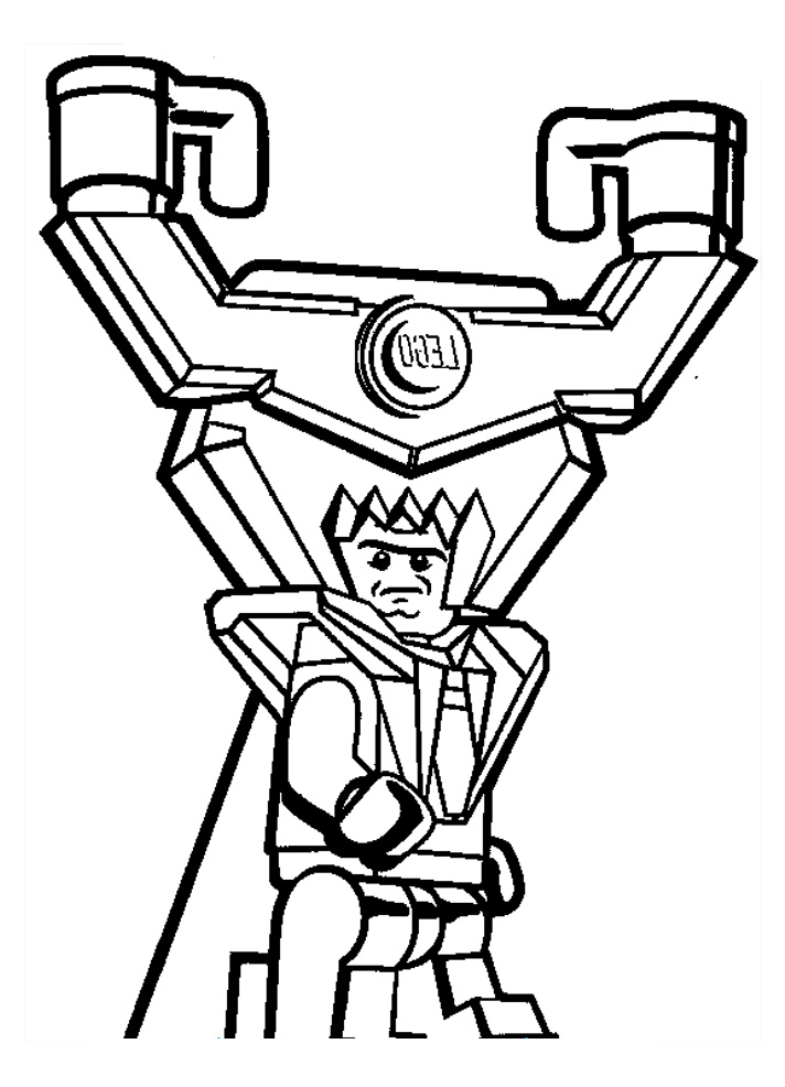 Free Lego the Big Adventure coloring page to download