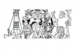 Coloring page lego the big adventure to color for children