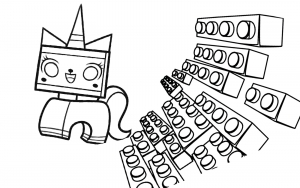 Coloring page lego the big adventure for children