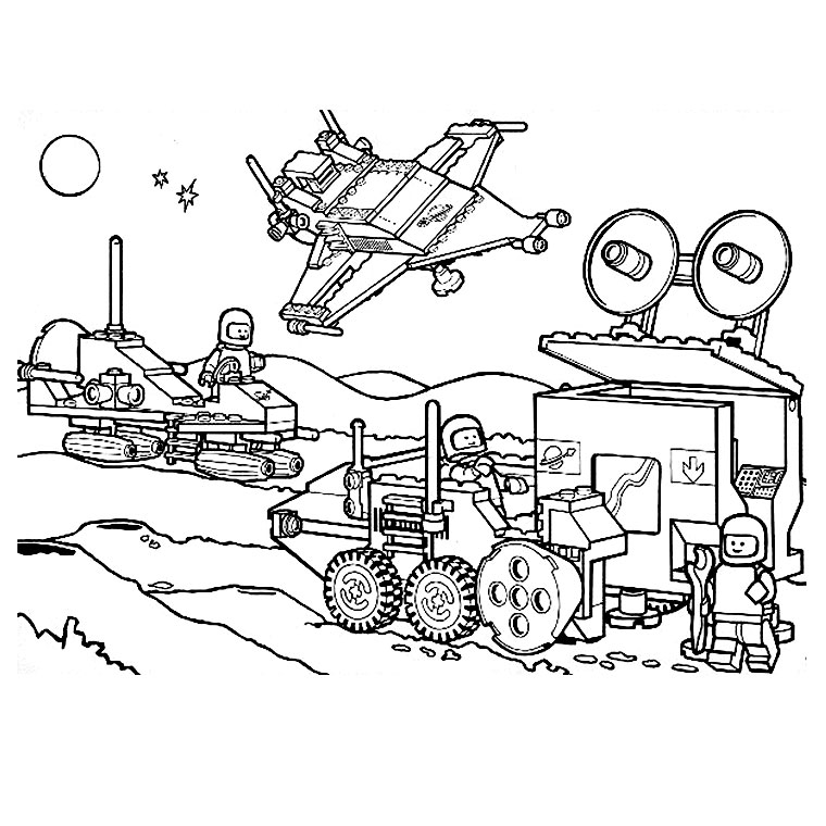 Free Legos coloring page to download, for children