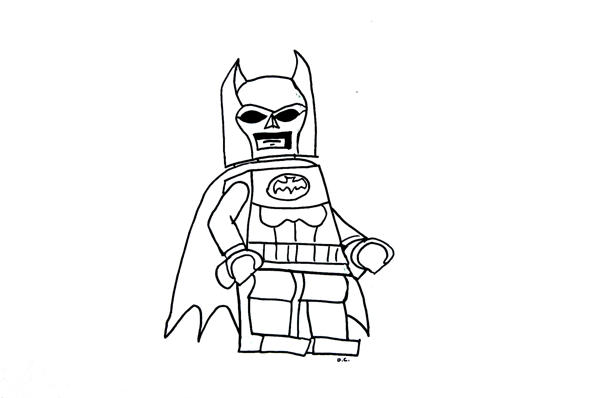 Funny free Legos coloring page to print and color