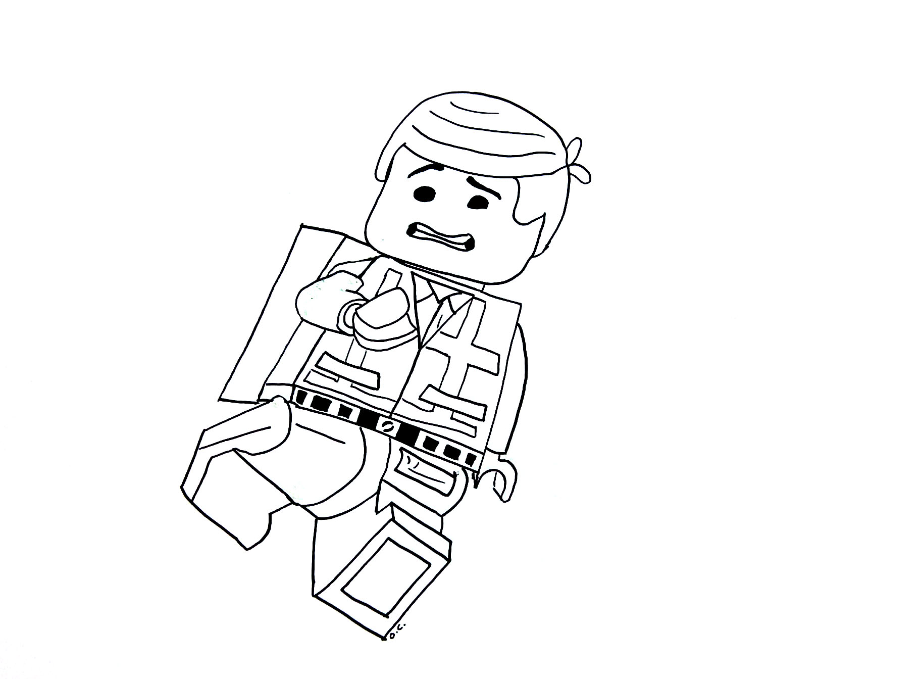Legos to color for children - Legos Kids Coloring Pages