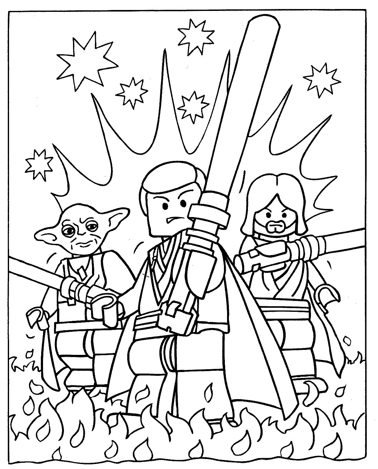 Funny Legos coloring page for children