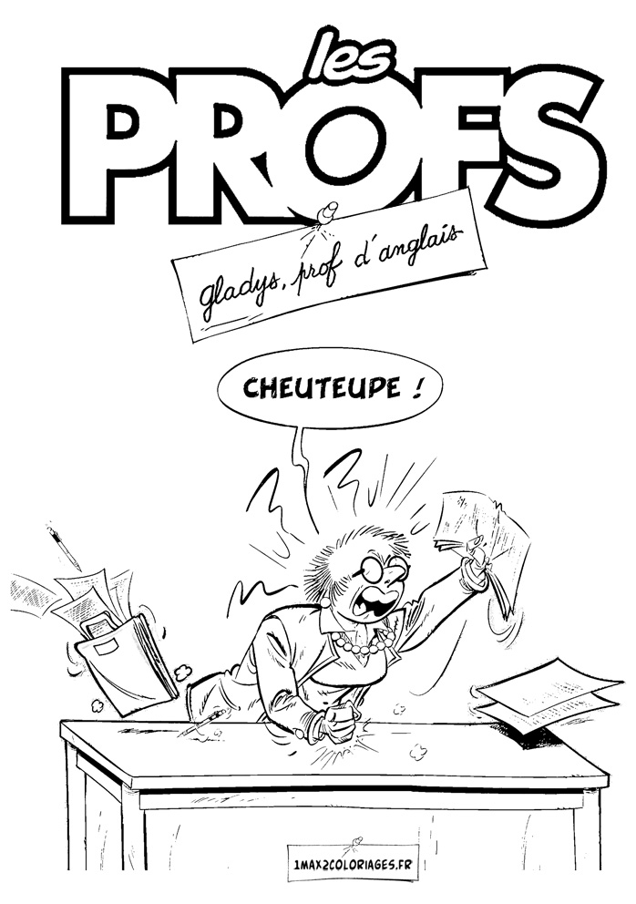 Les Profs coloring page to download for free