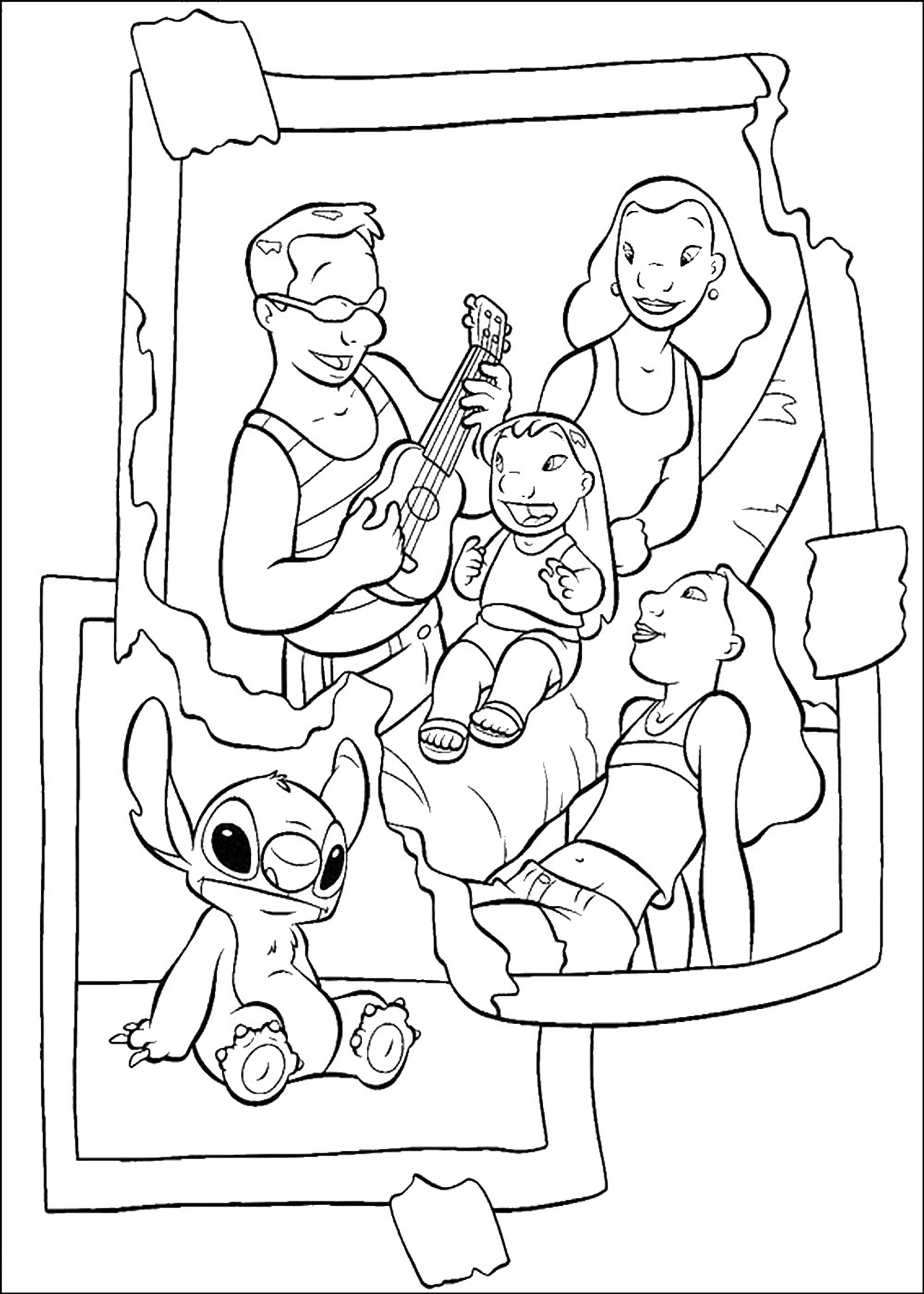 Funny Lilo And Stich coloring page for children