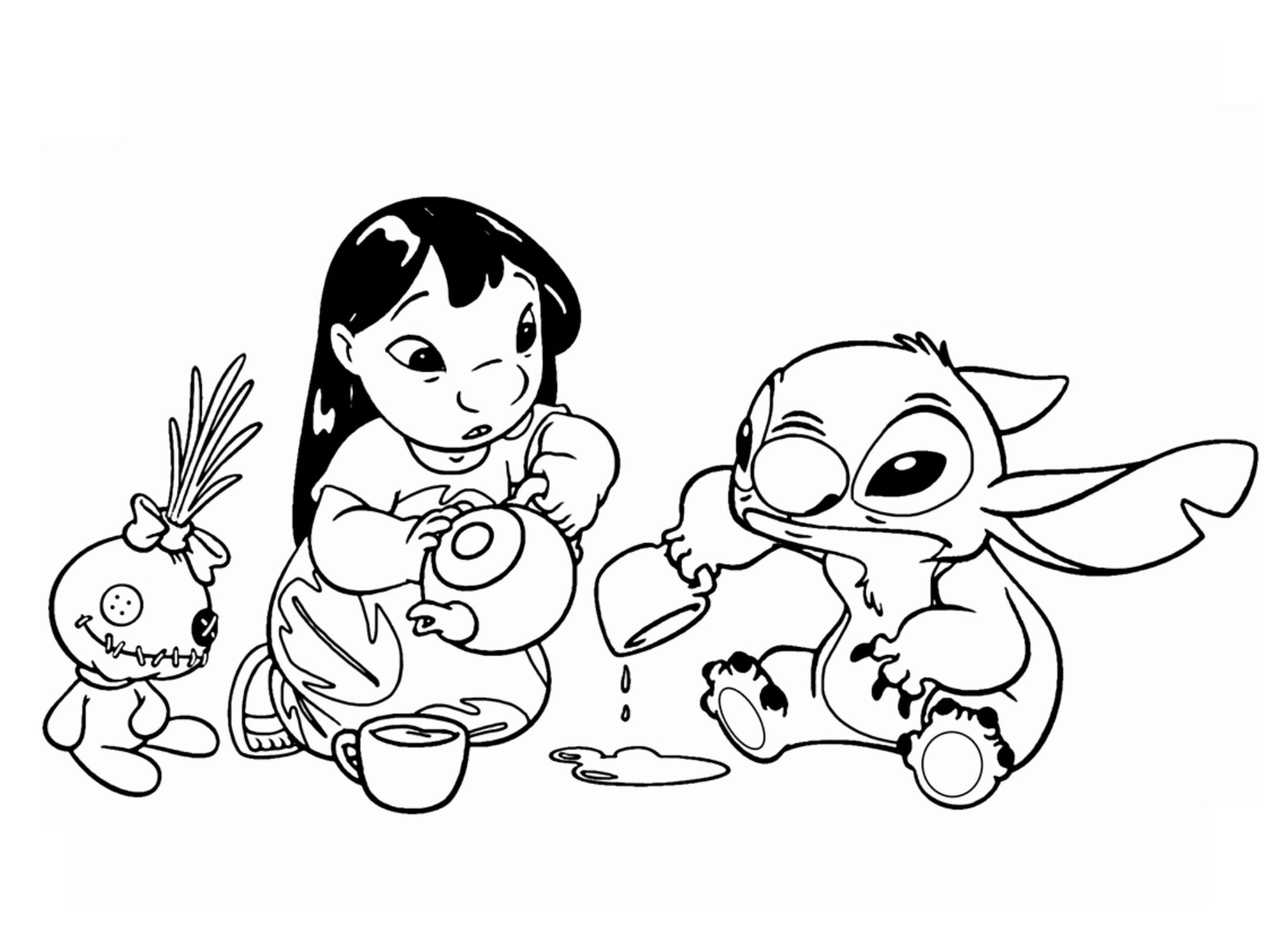 Disney Coloring Pages To Print: Lilo & Stitch Coloring Pages | 2000x2689