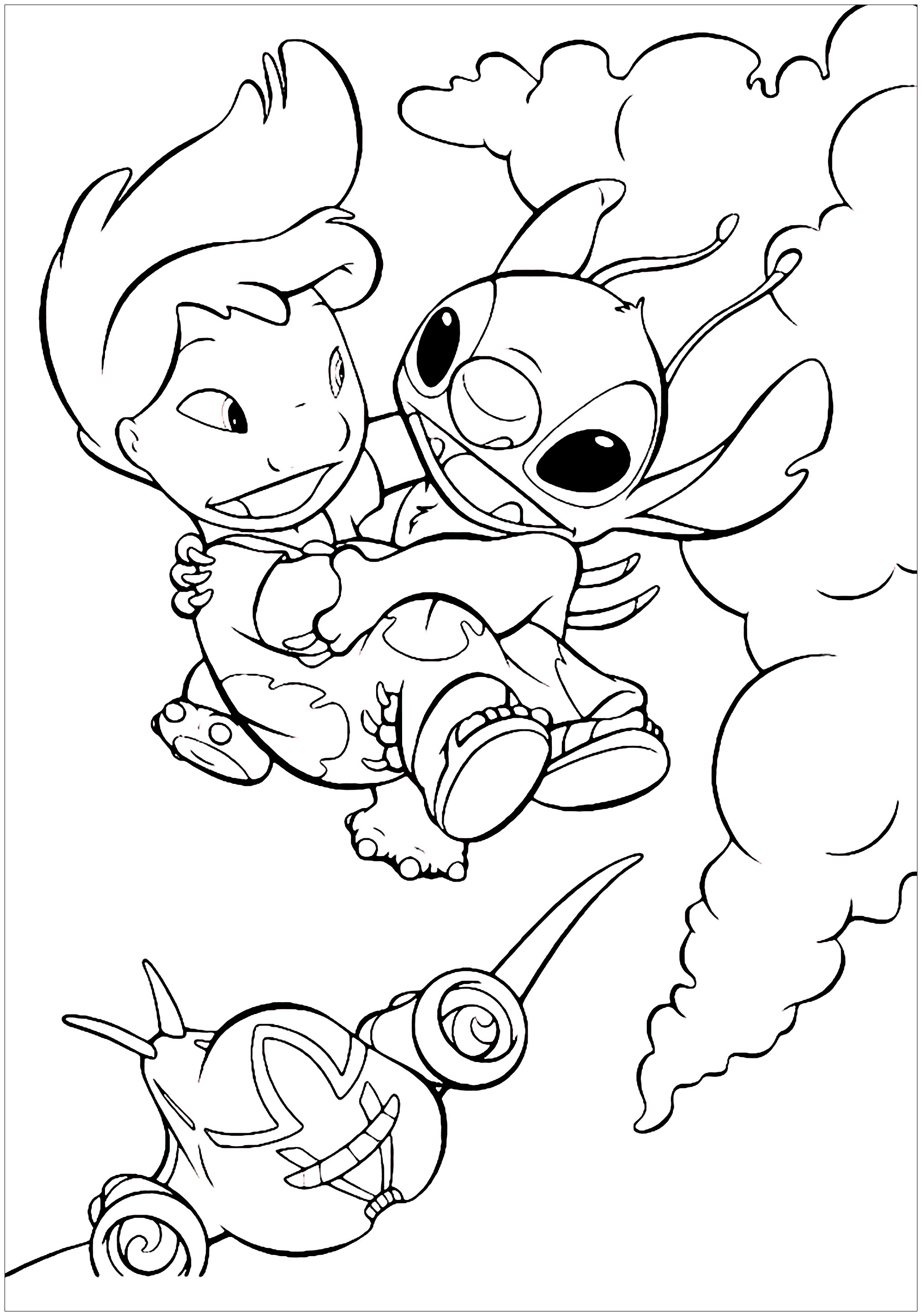 Lilo Pelekai | Disney character drawings, Stitch coloring pages ... | 2881x2020