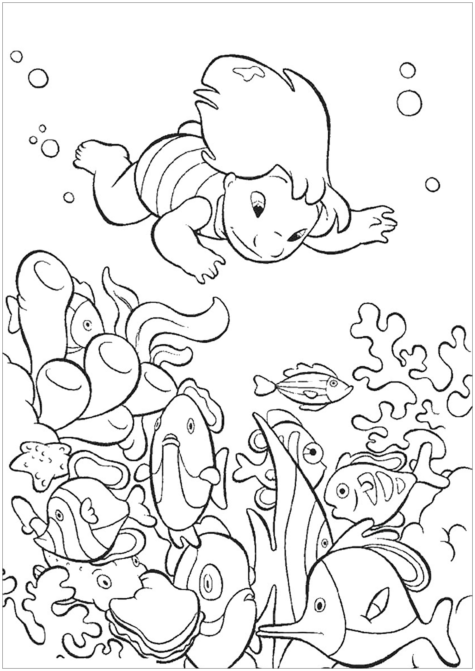Lilo And Stich coloring page to download for free