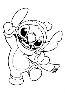 Coloring page lilo and stich for kids