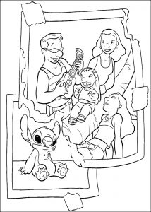Coloring page lilo and stich to print for free