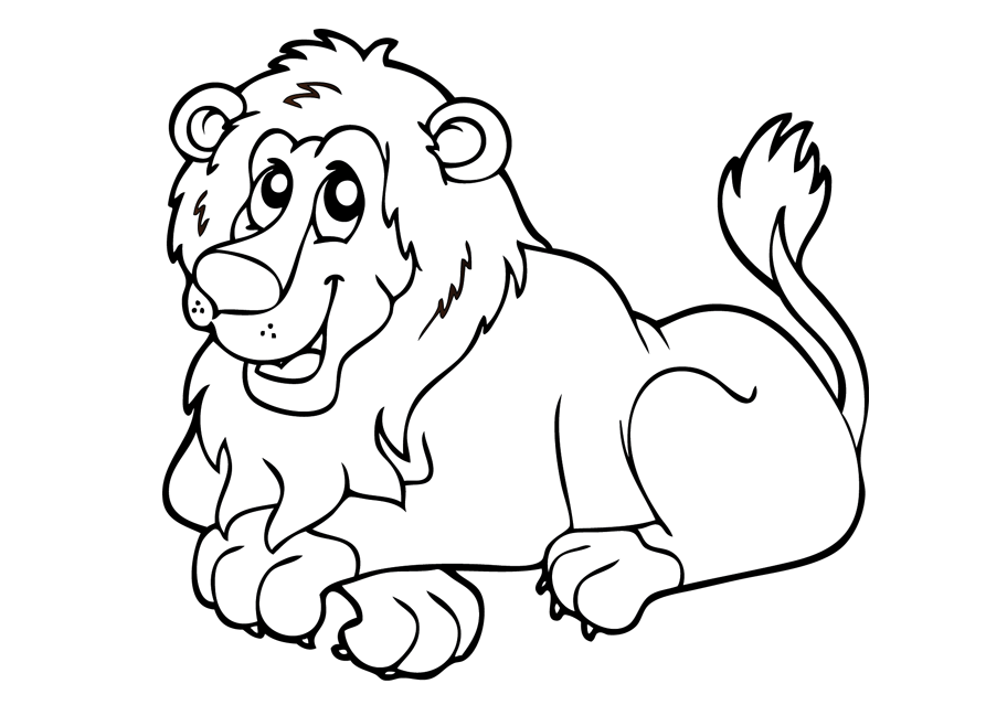 Lion free to color for kids - Lion Kids Coloring Pages