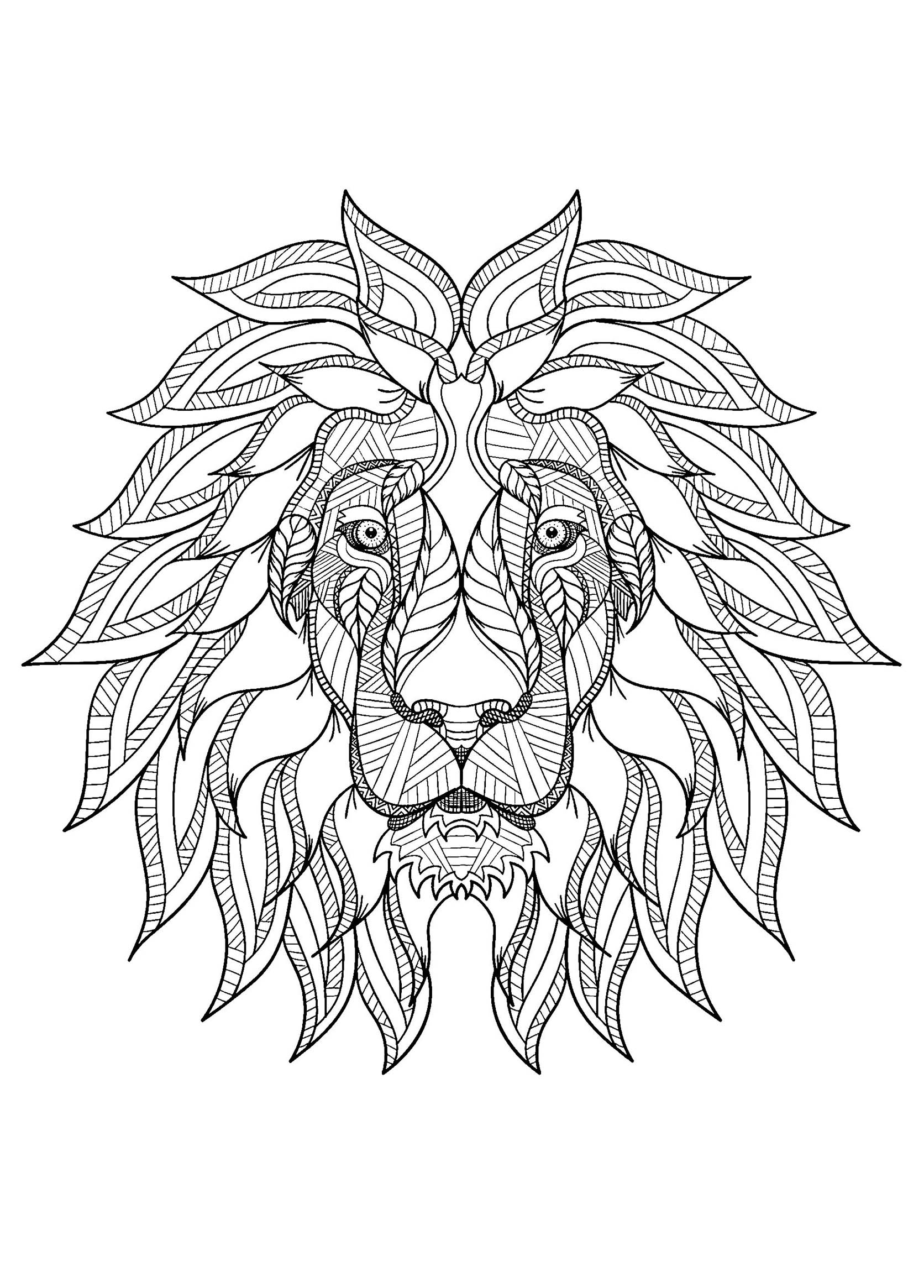 Lion Free To Color For Children Lion Kids Coloring Pages