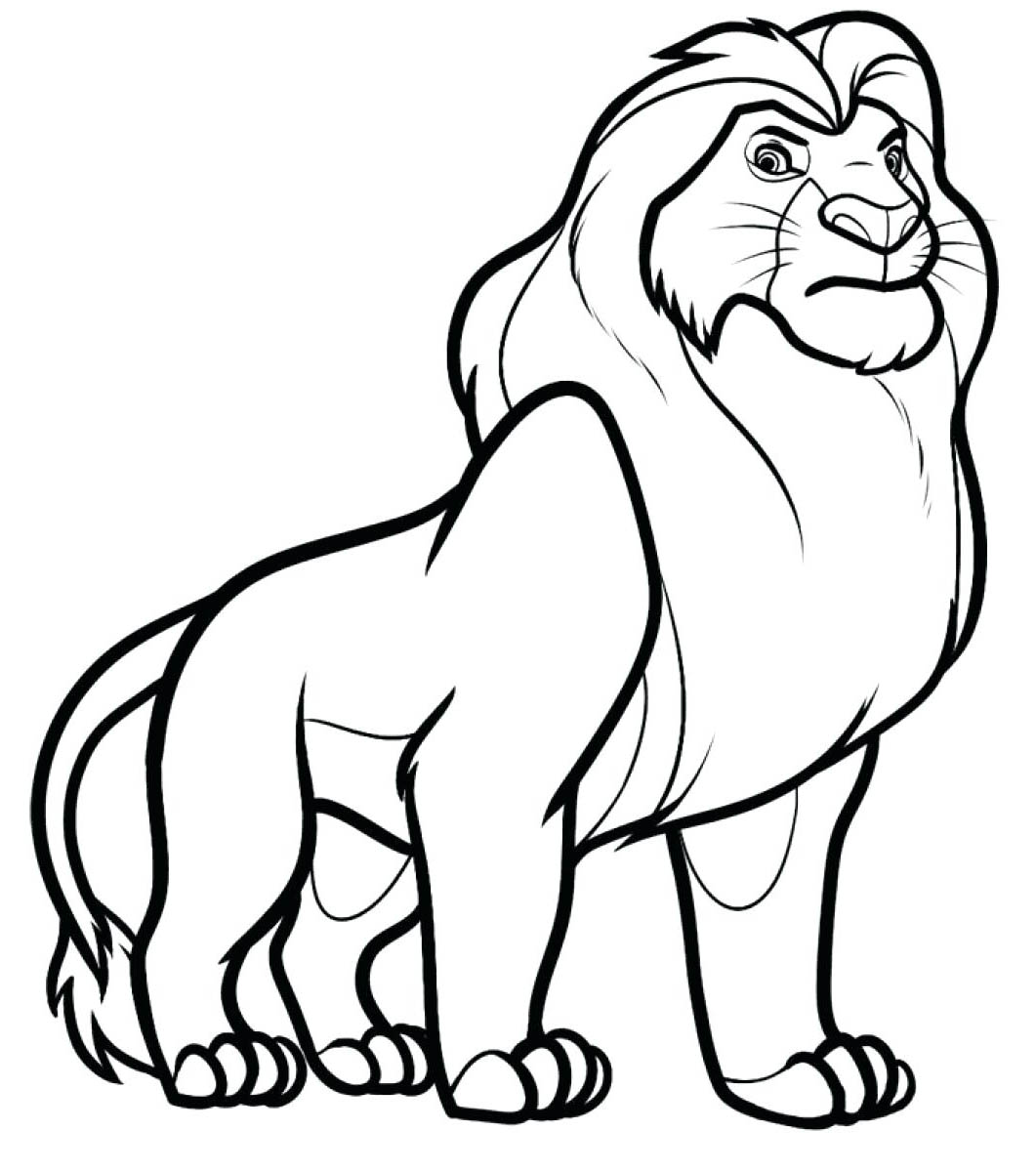 Lion To Print Lion Kids Coloring Pages