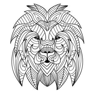 Coloring page lion to color for children