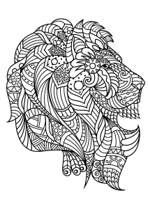 Coloring page lion to download