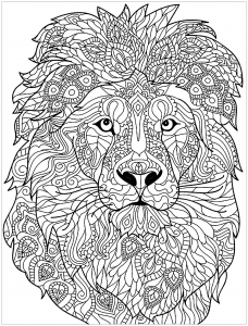 Coloring page lion free to color for kids