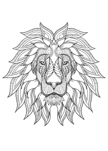 Coloring page lion free to color for children