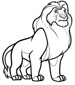 Lion Free Printable Coloring Pages For Kids Animal outline drawings | lion outline coloring online. lion free printable coloring pages