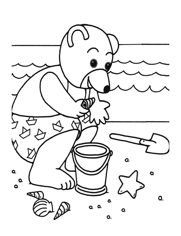 Free Little Brown Bear coloring page to download, for children