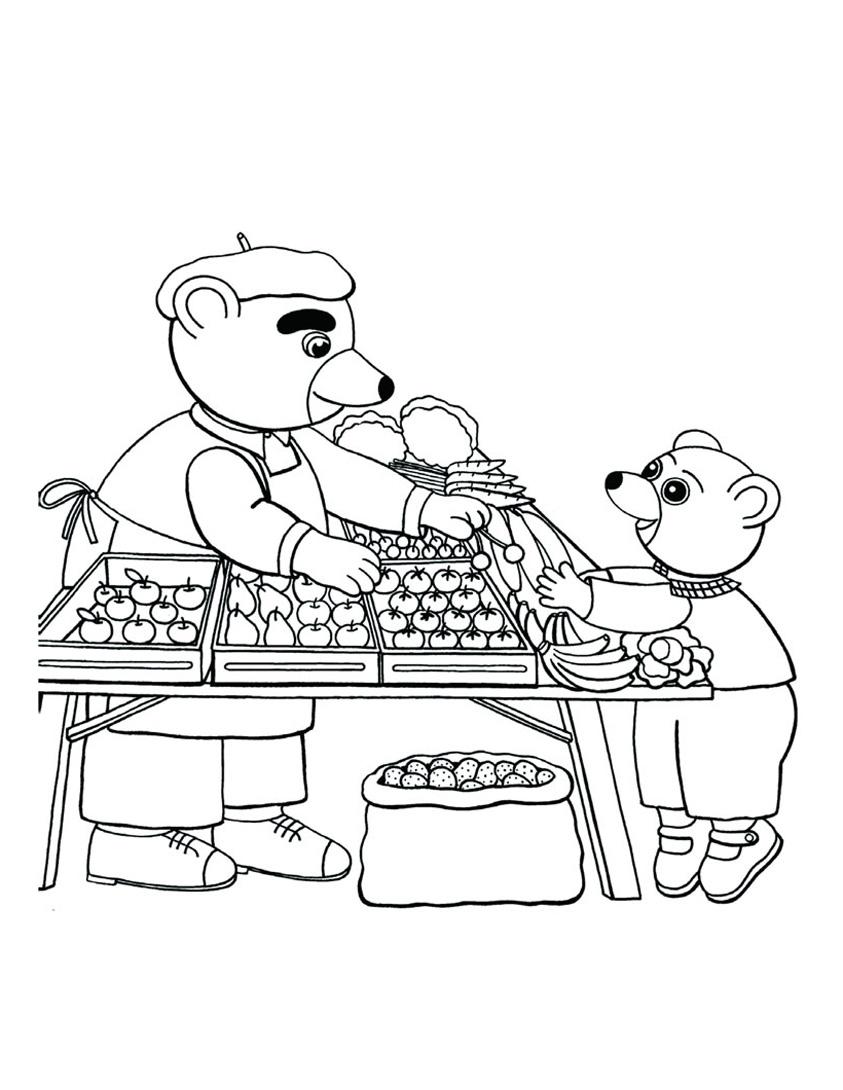 Little brown bear to color for children - Little Brown Bear Kids ...