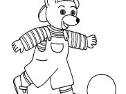 Little Brown Bear Coloring Pages for Kids
