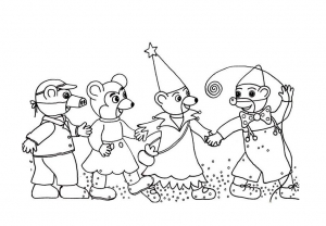 Coloring page little brown bear to print for free