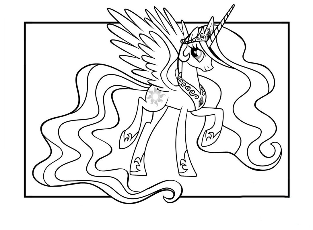 Little poney free to color for children - Little Poney Kids Coloring Pages