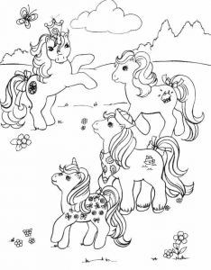 Coloring page little poney to print for free