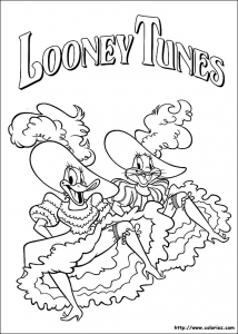 Coloring page looney tunes for kids