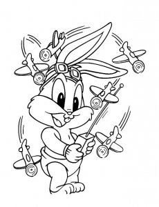 Coloring page looney tunes to print for free