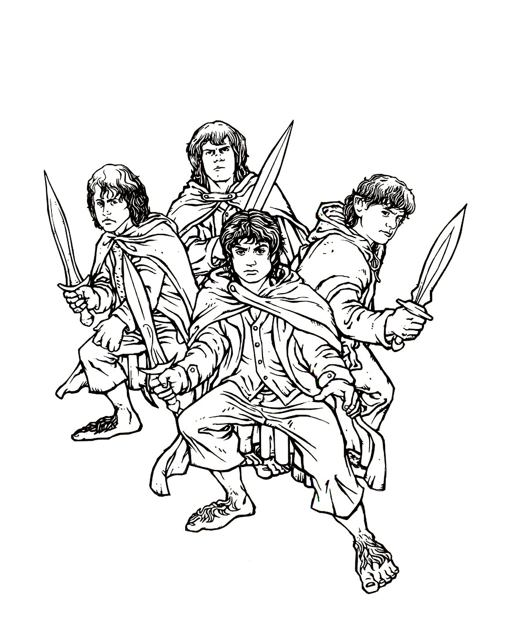lord of the ring to color for kids