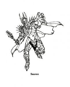 Coloring page lord of the ring free to color for children