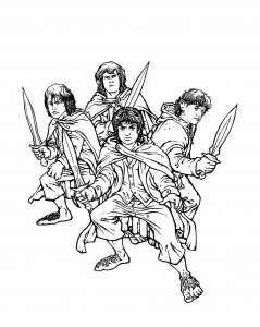Lord of the Ring - Free printable Coloring pages for kids