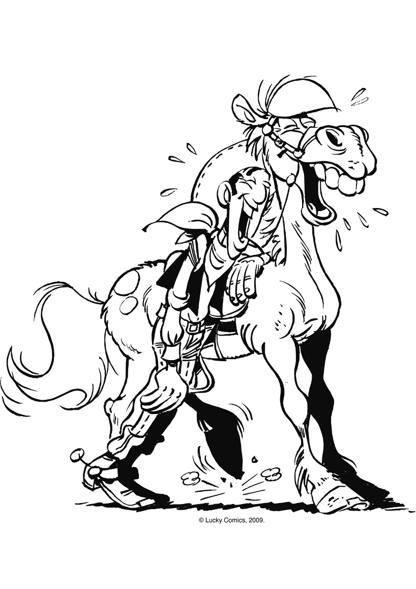 Funny Lucky Luke coloring page