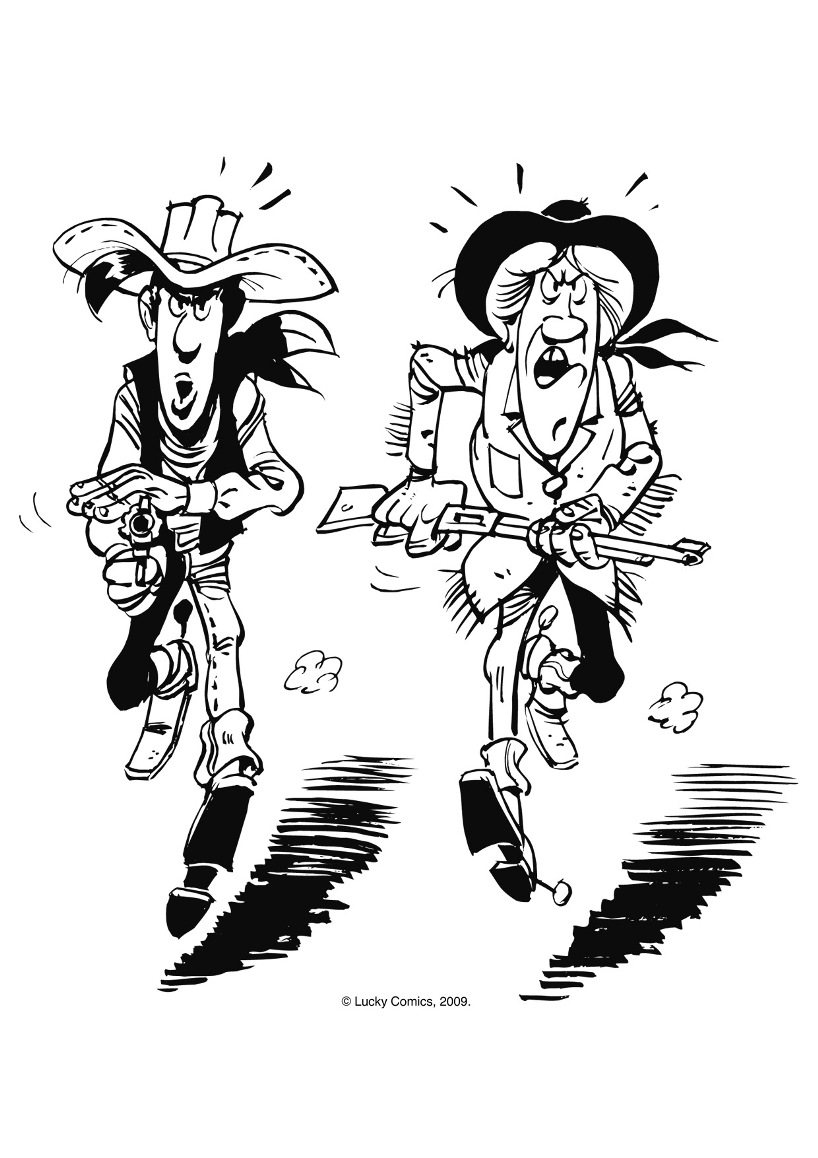 Lucky Luke coloring page to download