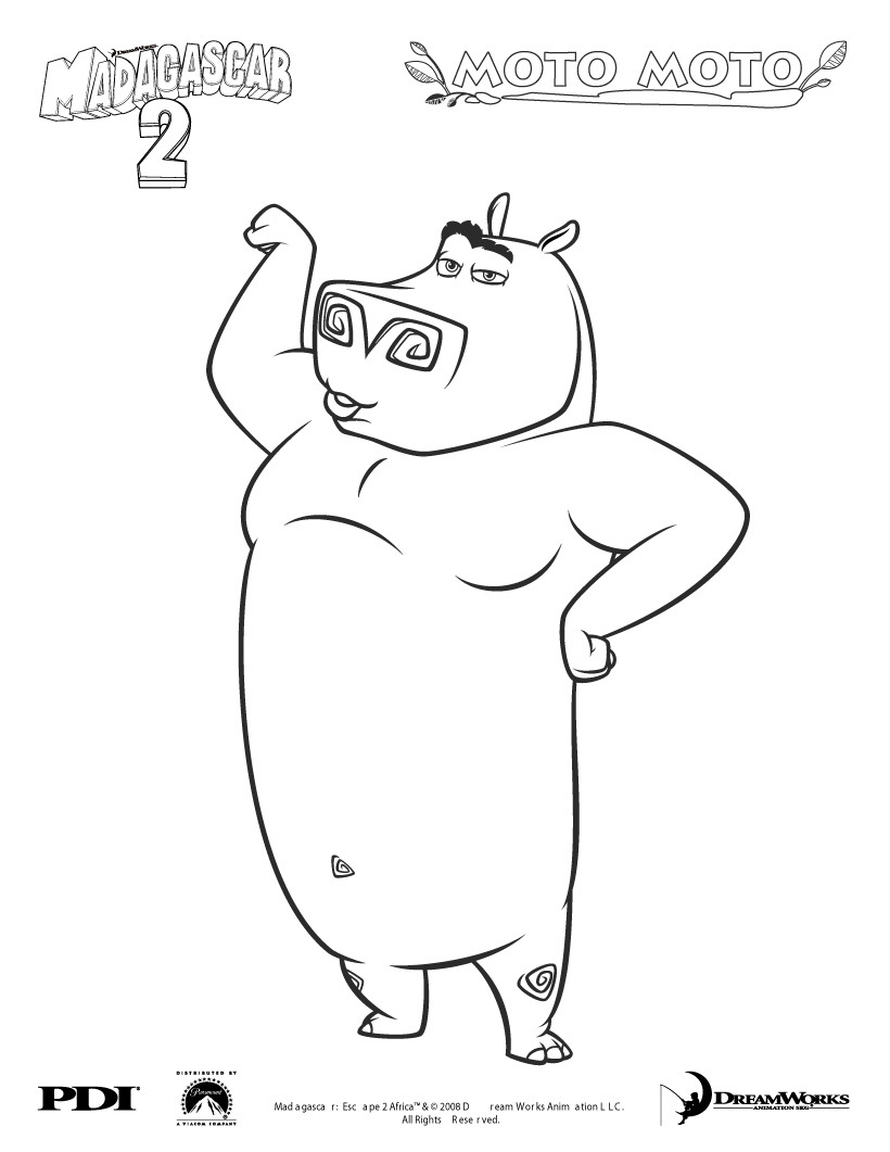 Madagascar to color for children - Madagascar Kids Coloring Pages